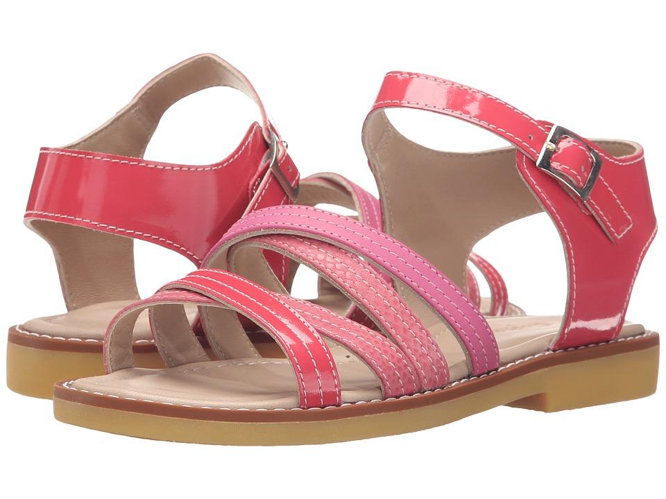 Elephantito Crossed Sandal (Toddler/Little Kid/Big Kid) (PTN Hot Pink) Girls Shoes