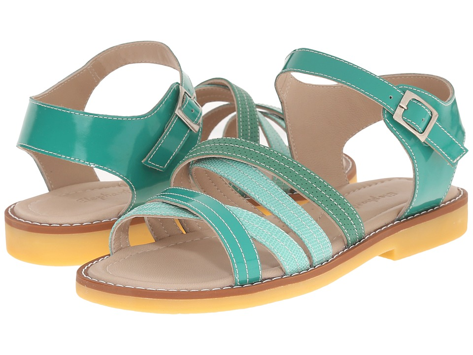 Elephantito Crossed Sandal (Toddler/Little Kid/Big Kid) (Green) Girls Shoes