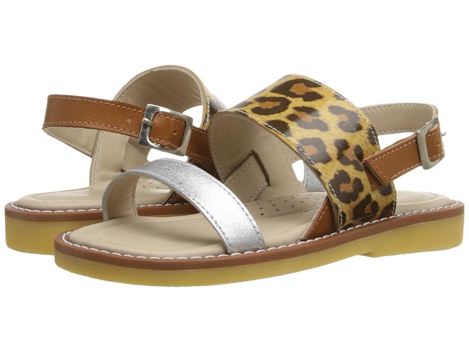 Elephantito Mikonos Sandal Toddler/Little Kid/Big Kid Metallic Leopard Girls Shoes