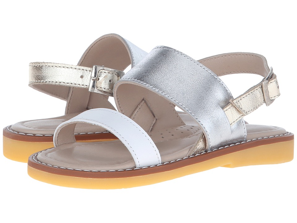 Elephantito Mikonos Sandal Toddler/Little Kid/Big Kid PTN Silver Girls Shoes