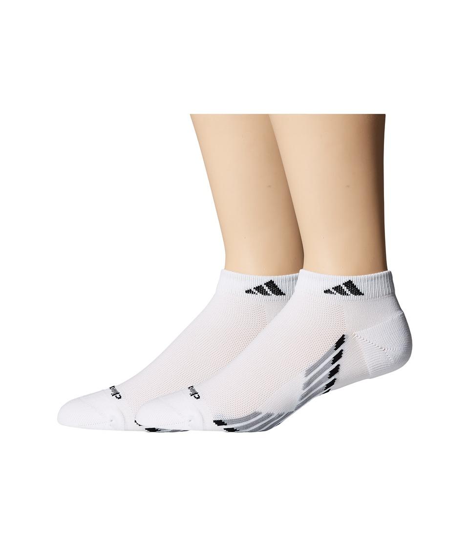 adidas climacool X III 2 Pair Pack Low Cut Socks White/Light Onix/Onix/Black Mens Low Cut Socks Shoes