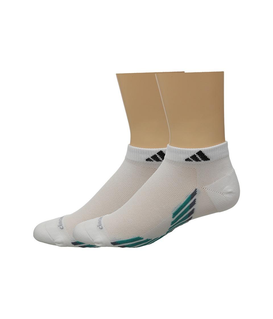 adidas climacool X III 2 Pair Pack Low Cut Socks White/EQT Green/Black/Onix Mens Low Cut Socks Shoes