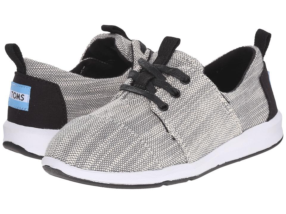TOMS Kids Del Rey Sneaker Little Kid/Big Kid Grey Textured Woven Kids Shoes