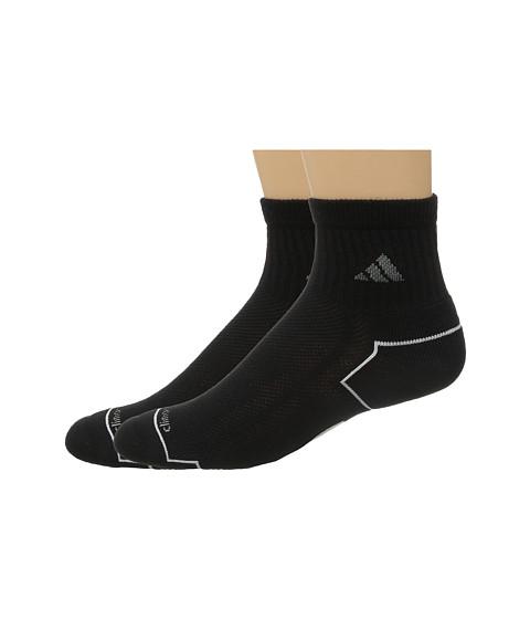 adidas climacool® II 2-Pack Quarter Socks - Black/Medium Lead/White