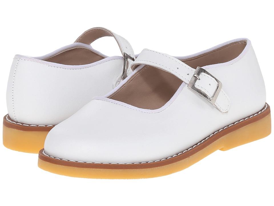 Elephantito Mary Jane w/ Buckle Toddler/Little Kid/Big Kid White Girls Shoes
