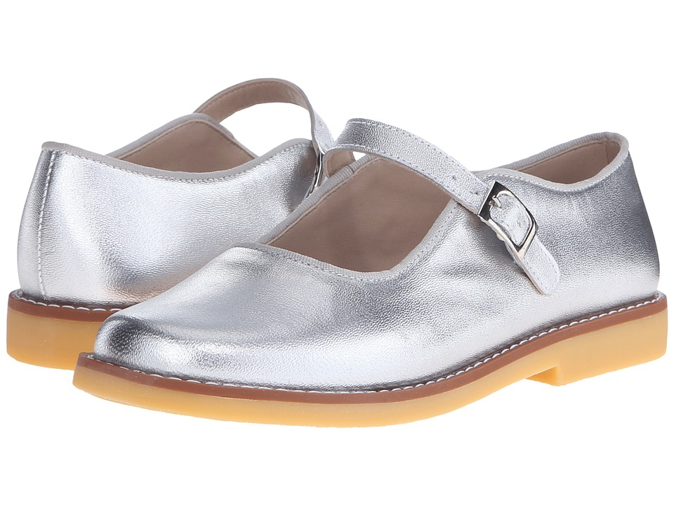 Elephantito Mary Jane w/ Buckle Toddler/Little Kid/Big Kid Silver Girls Shoes