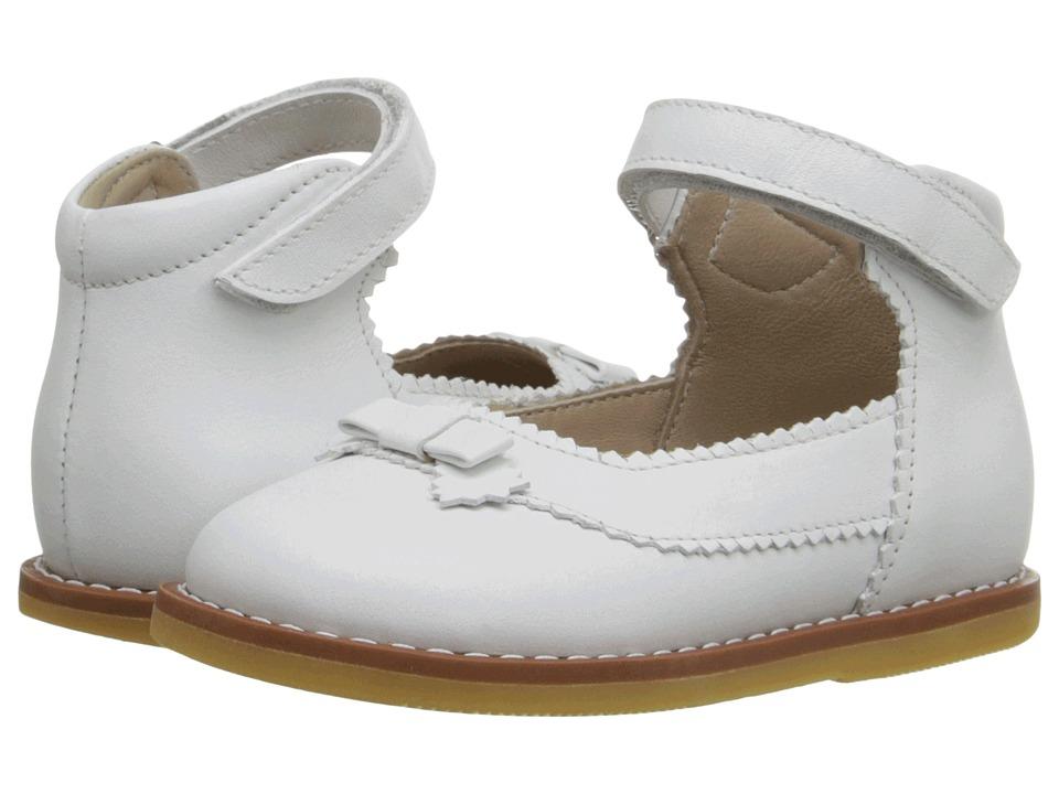 Elephantito Mary Jane w/ Bow (Infant/Toddler) (PTN White) Girls Shoes