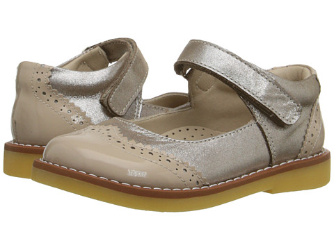 Elephantito Spectator Mary Jane (Toddler/Little Kid/Big Kid) - Met. Suede Blush
