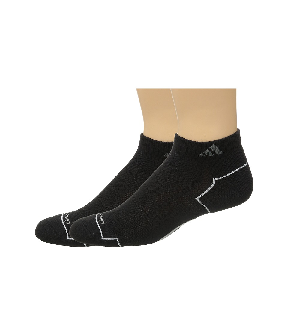 adidas Climacool II 2 Pack Low Cut Socks Black/Medium Lead/White Mens Low Cut Socks Shoes
