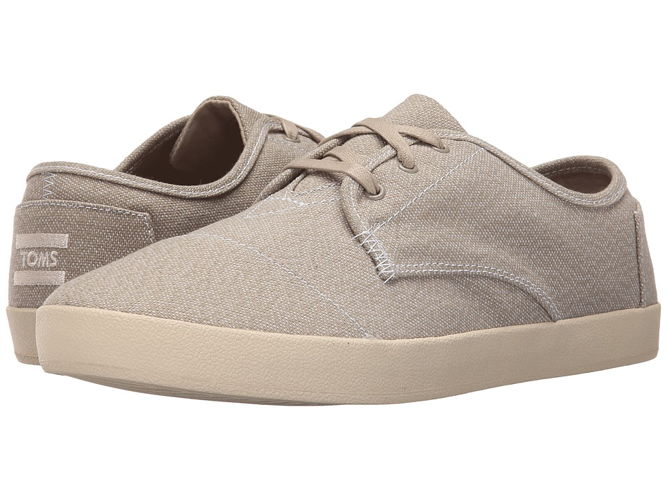 TOMS Paseo Oxford Tan/White Woven Mens Lace up casual Shoes