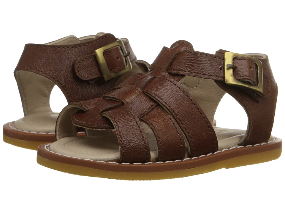 Elephantito Fisherman Sandal Infant/Toddler Leather Brown Boys Shoes