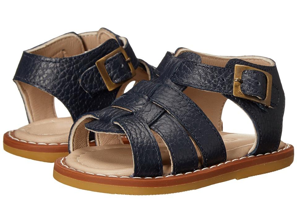 Elephantito Fisherman Sandal Infant/Toddler Leather Blue Boys Shoes