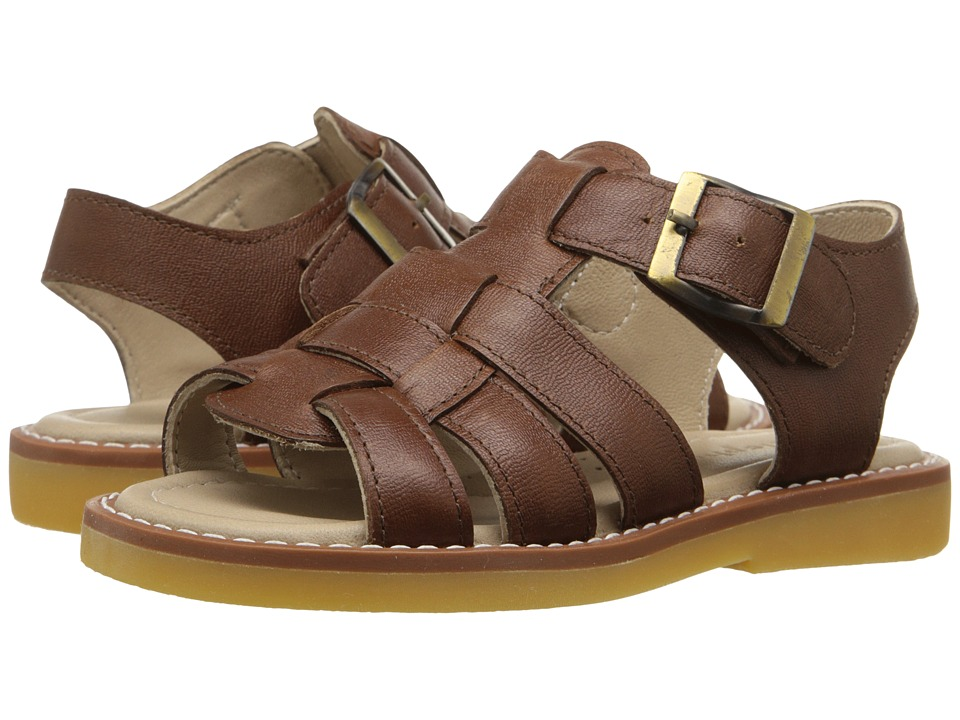 Elephantito Fisherman Sandal Toddler/Little Kid/Big Kid Leather Brown Boys Shoes