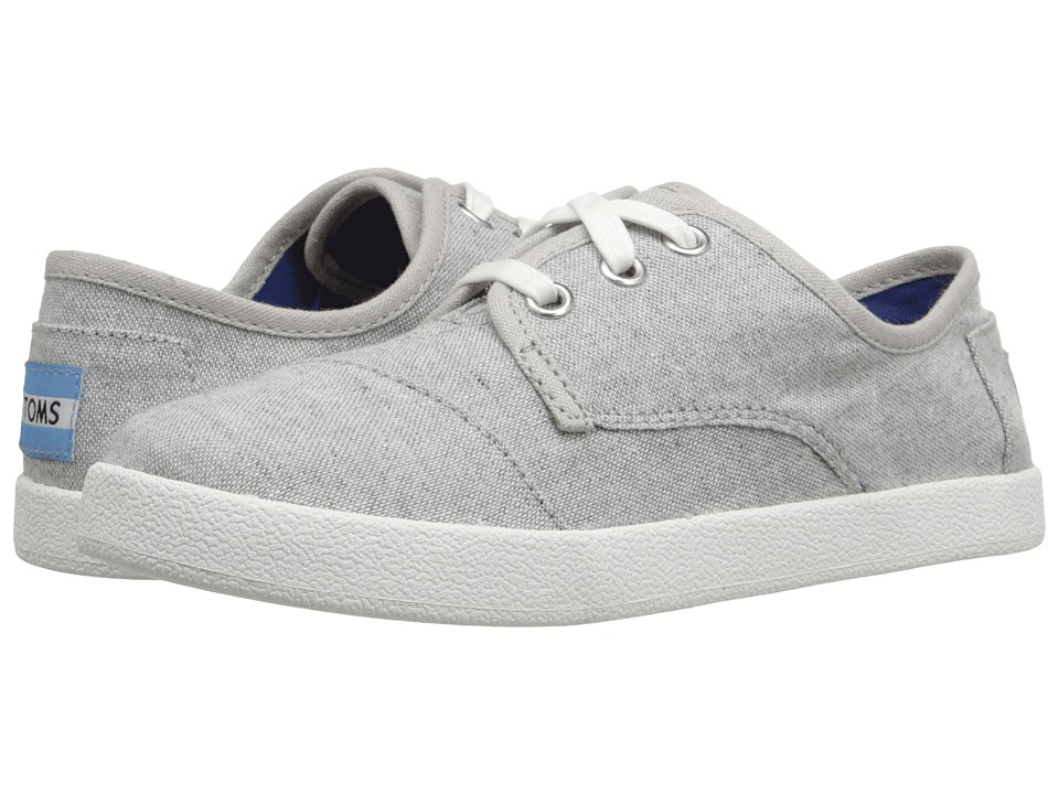 TOMS Kids Paseo Sneaker Little Kid/Big Kid Light Grey Chambray Kids Shoes