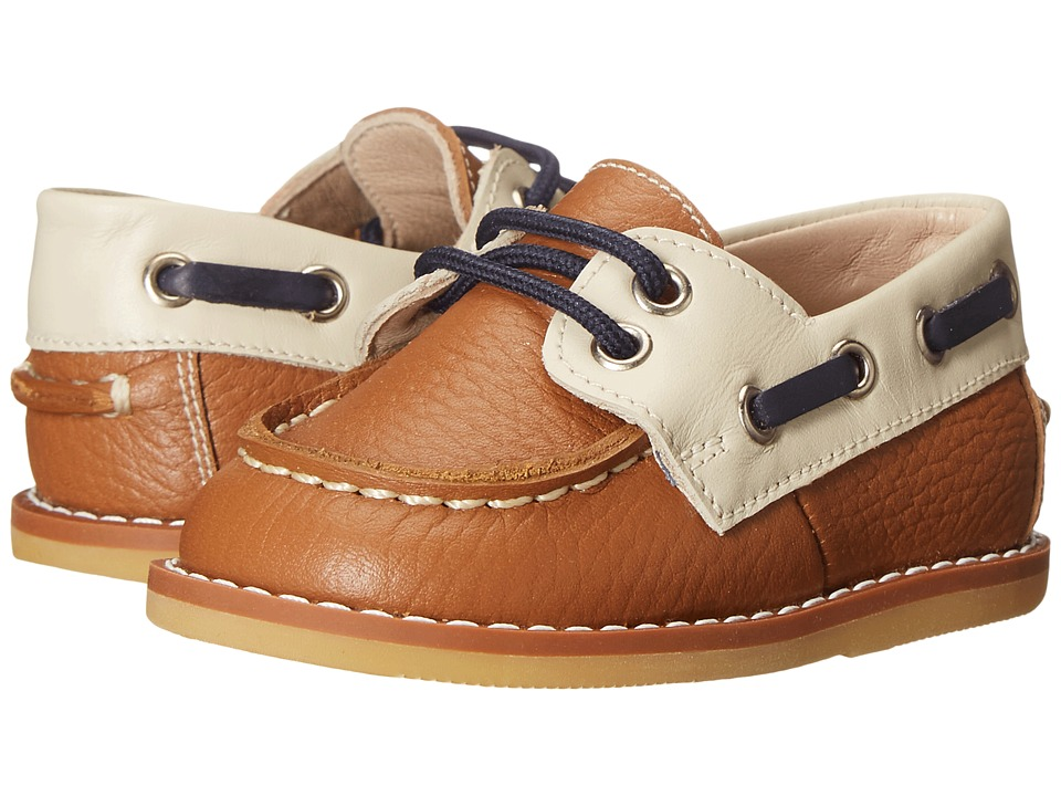 Elephantito Boat Shoes Infant/Toddler Leather Caramel Boys Shoes