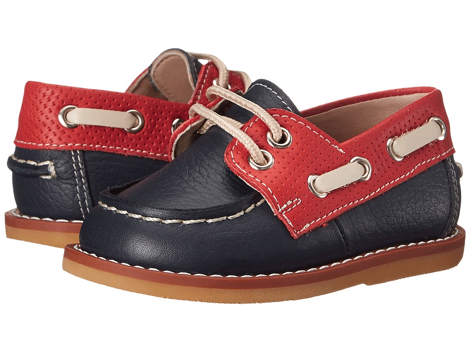 Elephantito Boat Shoes Infant/Toddler Leather Blue Boys Shoes