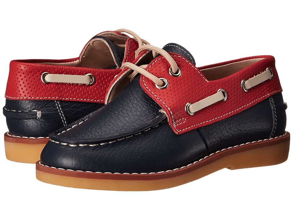 Elephantito Boat Shoes Toddler/Little Kid/Big Kid Leather Blue Boys Shoes