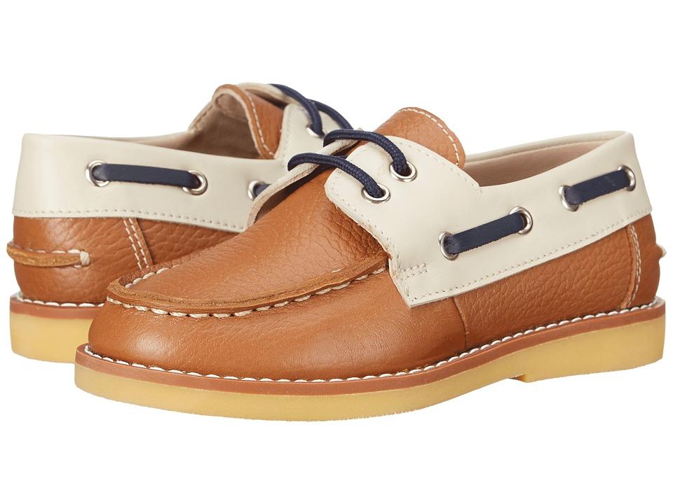 Elephantito Boat Shoes Toddler/Little Kid/Big Kid Leather Caramel Boys Shoes