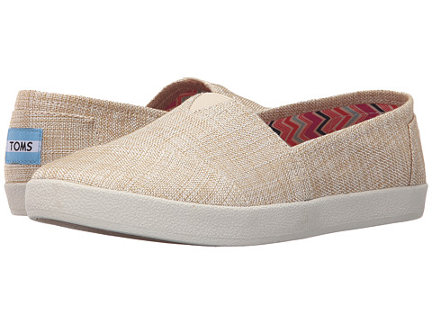 TOMS Avalon Slip-On - Natural Metallic Linen