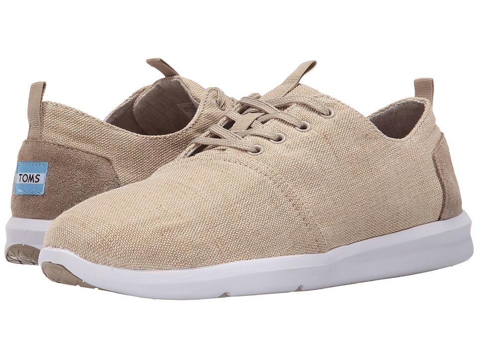 TOMS Del Rey Natural Burlap Mens Lace up casual Shoes