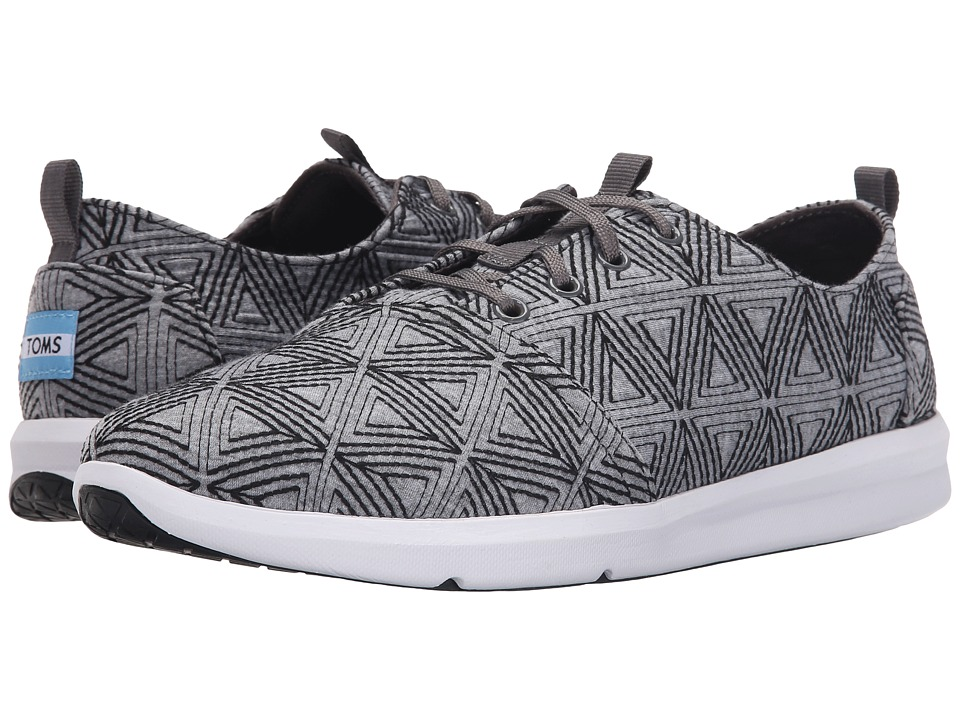 TOMS Del Rey Grey Angular Embroidery Mens Lace up casual Shoes