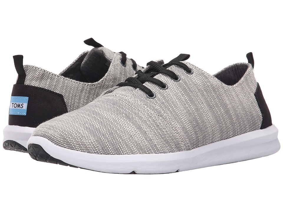 TOMS Del Rey Grey Textured Woven Mens Lace up casual Shoes