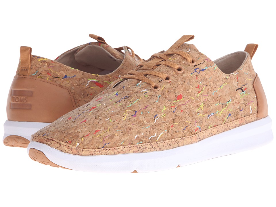 TOMS Del Rey Multi Painted Cork Mens Lace up casual Shoes