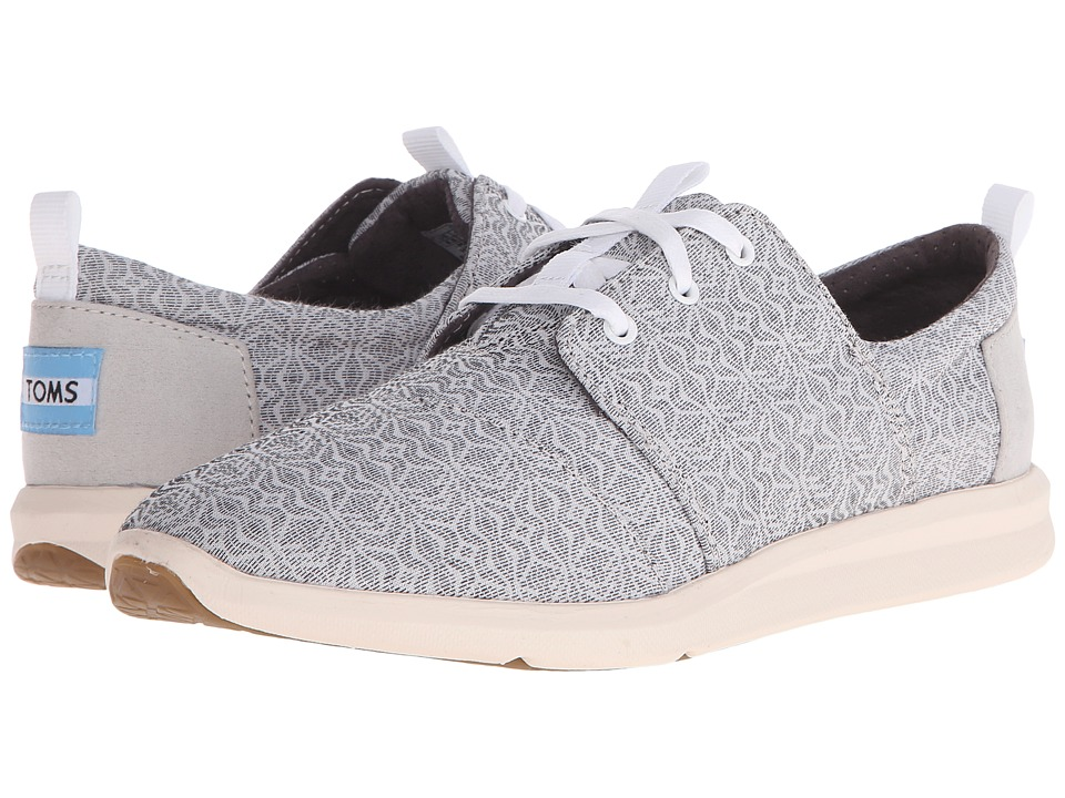 TOMS Del Rey Sneaker Grey Tribal Womens Lace up casual Shoes