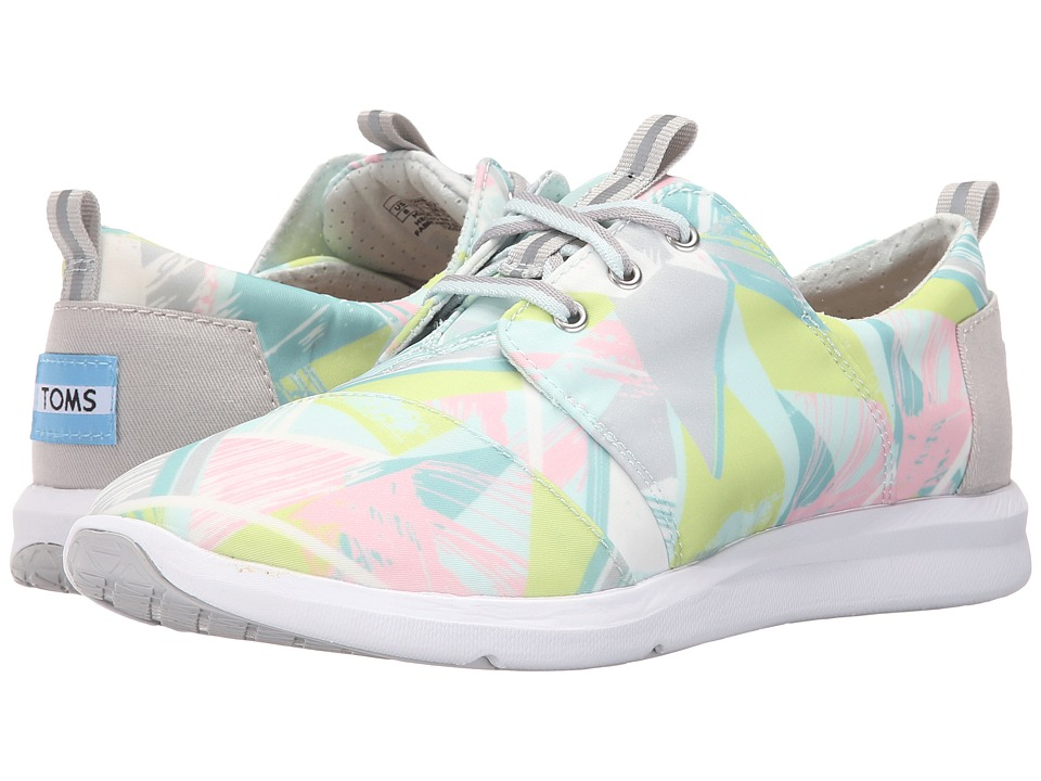 TOMS Del Rey Sneaker Pastel Multi Nylon Triangles Womens Lace up casual Shoes