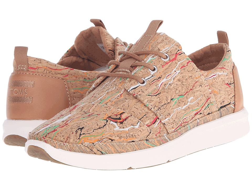 TOMS Del Rey Sneaker Multi Cork Womens Lace up casual Shoes