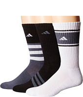 adidas Cushioned Assorted Color 3-Pack Crew Socks