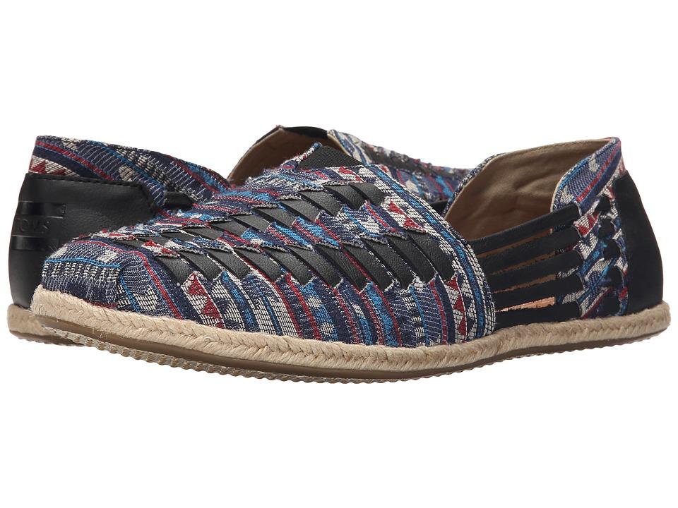 TOMS Alparagata Huarache Blue Cultural Woven Mens Slip on Shoes