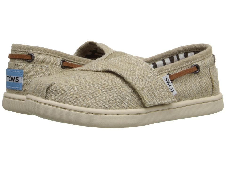 TOMS Kids Bimini Espadrille Infant/Toddler/Little Kid Natural Burlap Kids Shoes