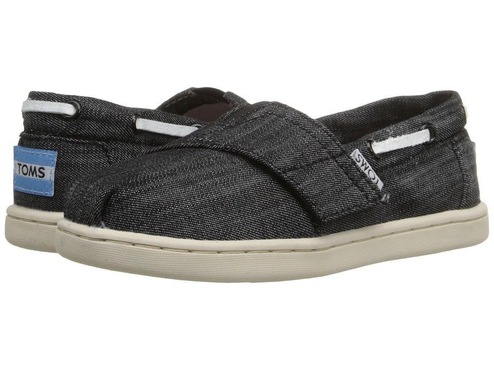 TOMS Kids Bimini Espadrille Infant/Toddler/Little Kid Black Chambray Kids Shoes