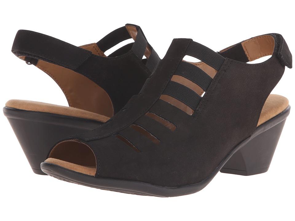 Comfortiva Faye Black Otago Nubuck Womens 1 2 inch heel Shoes