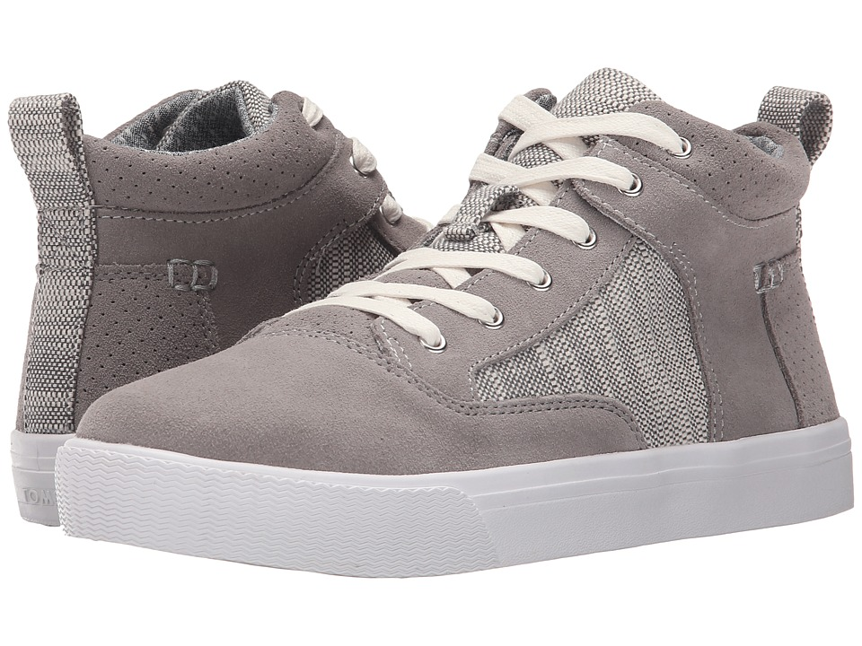 TOMS Camila High Sneaker Grey Suede Textured Woven Womens Lace up casual Shoes