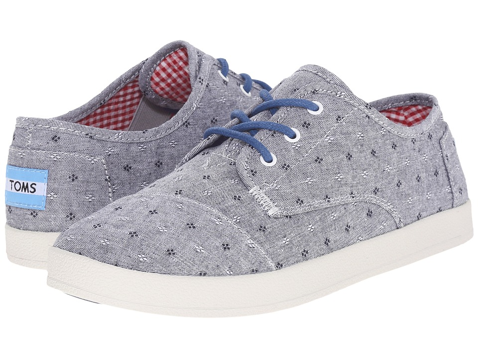 TOMS Paseo Sneaker Chambray Flower Womens Lace up casual Shoes