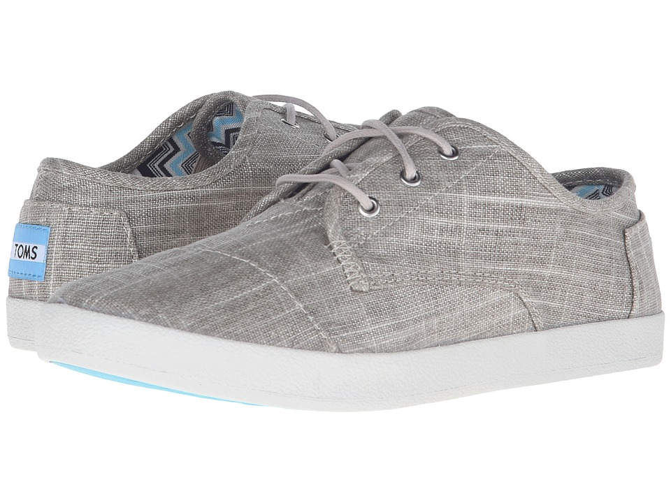 TOMS Paseo Sneaker Tan Metallic Linen Womens Lace up casual Shoes