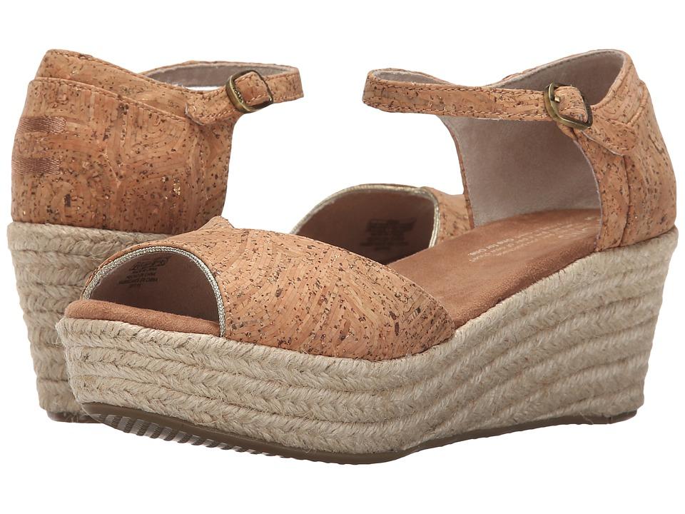 TOMS Platform Wedge Cork Glitz/Rope Womens Wedge Shoes
