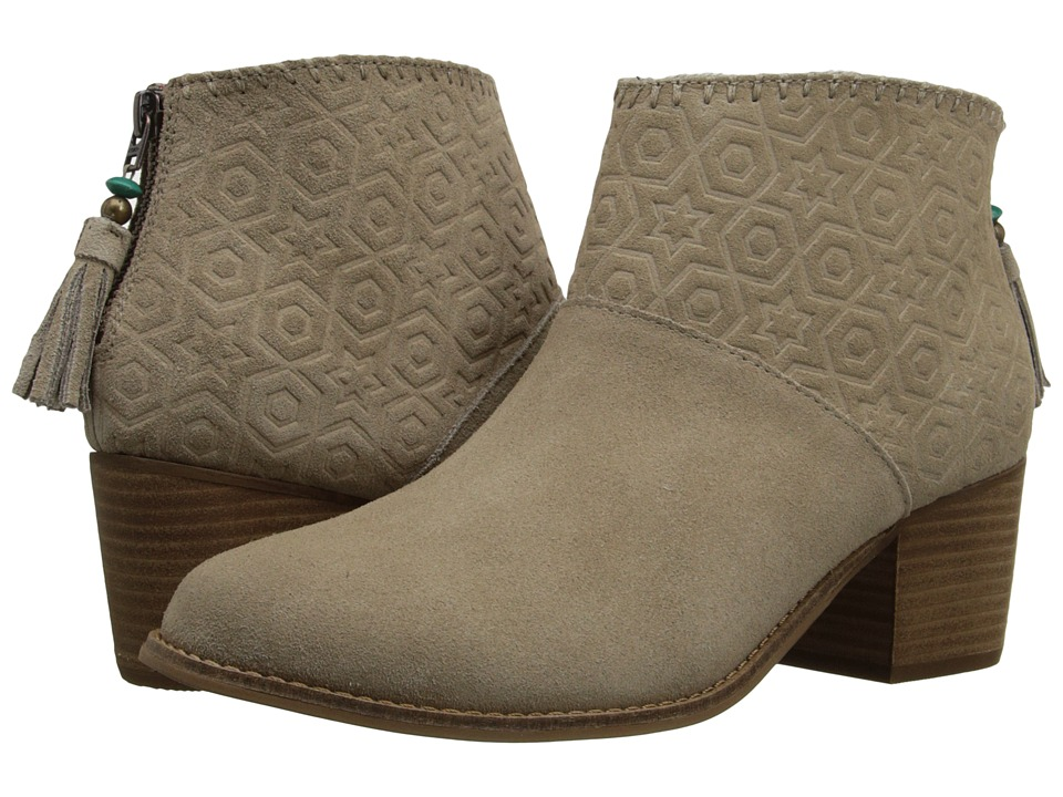 TOMS Leila Bootie (Oxford Tan Suede Embossed) Women