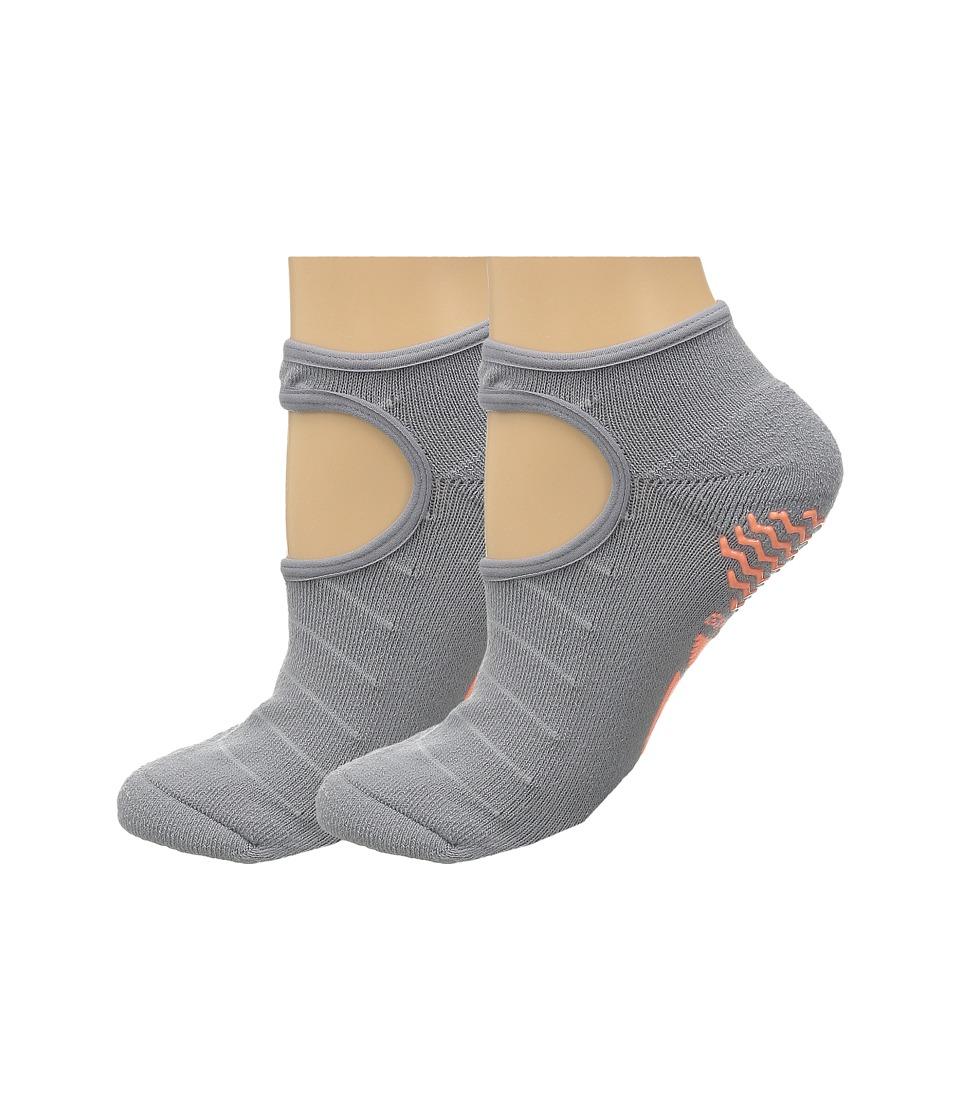 adidas Studio 2 Pack Super No Show Socks Light Onix/Clear Onix/Sun Glow/Onix Womens No Show Socks Shoes