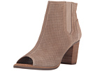 TOMS - Majorca Peep Toe Bootie (Stucco Suede Perforated)