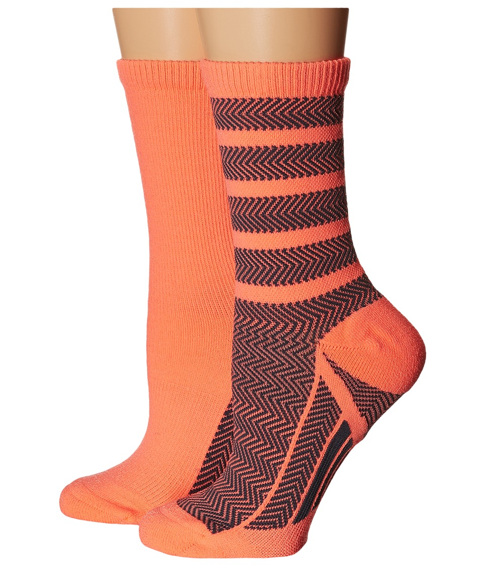 adidas Studio 2 Pack Crew Socks Sun GLow/Deepest Space Womens Crew Cut Socks Shoes