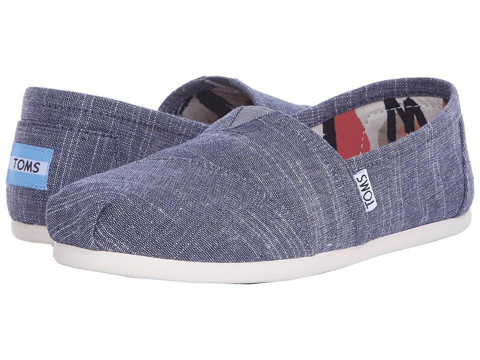 TOMS Seasonal Classics Blue Chambray 2 Womens Slip on Shoes