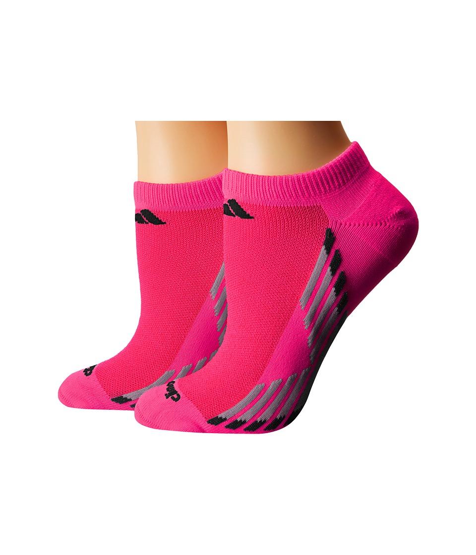adidas climacool X III 2 Pack No Show Socks Shock Pink/Black/Light Onix/Onix Womens No Show Socks Shoes