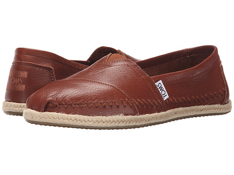 TOMS Leather Classics - Cognac Full Grain Leather 2