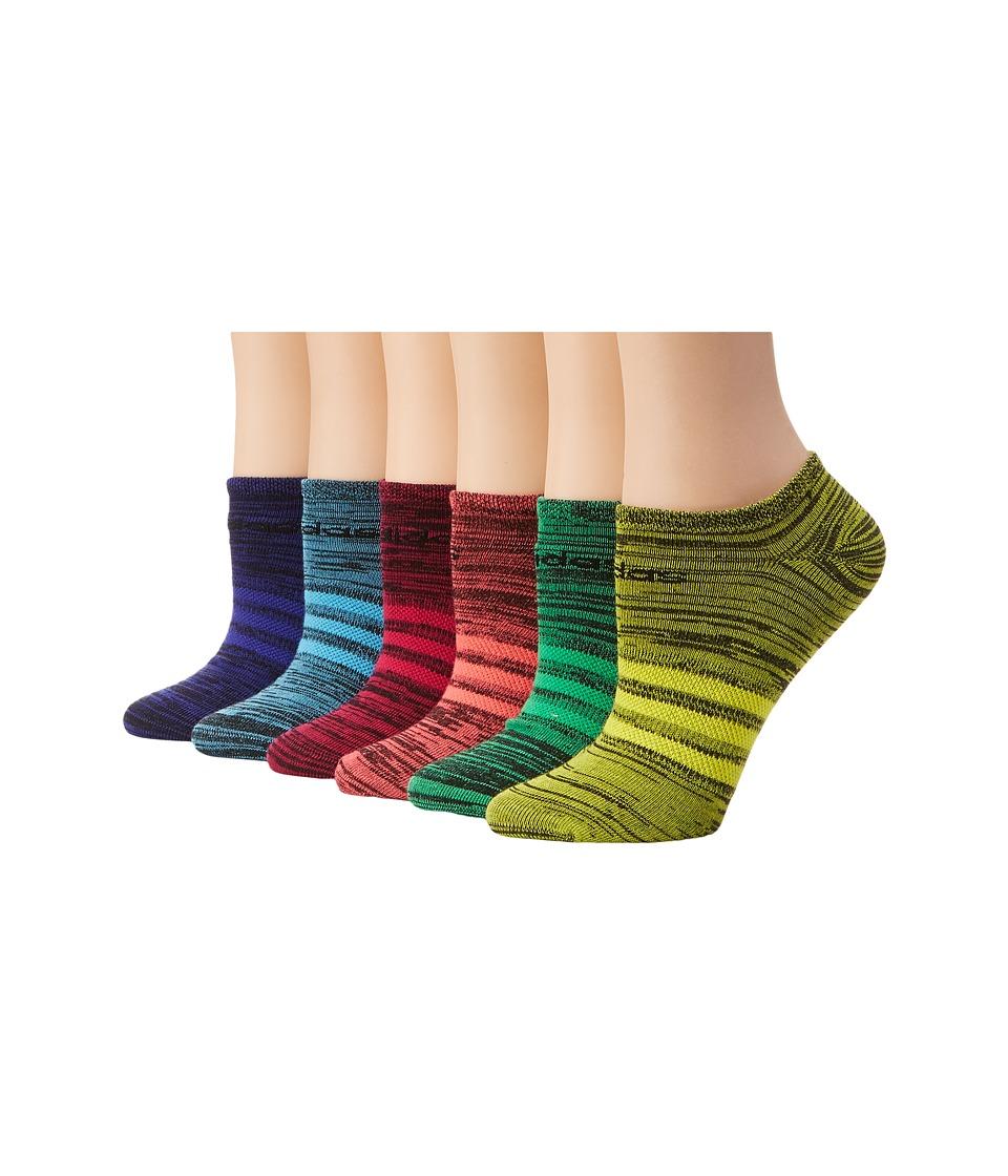 adidas Superlite 6 Pair No Show Socks Black/Flash Red/Bright Cyan/Night Flash/Bright Yellow/Flash Lime Womens No Show Socks Shoes