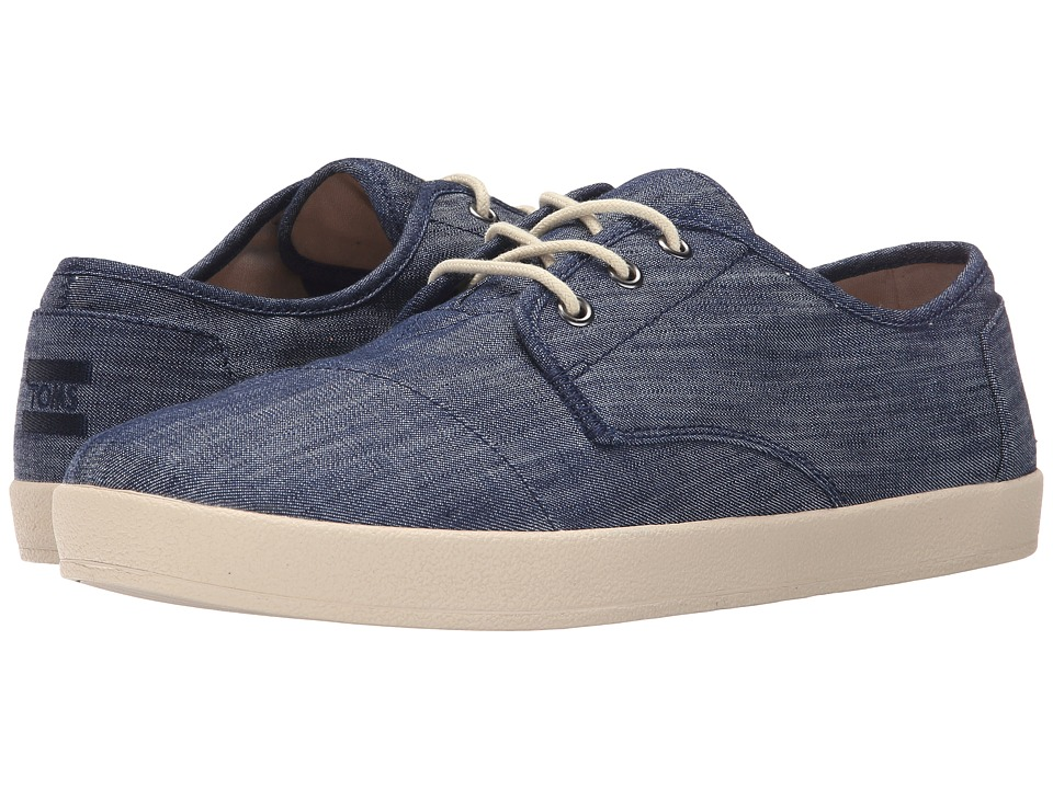 TOMS Paseo Light Blue Chambray 2 Mens Lace up casual Shoes