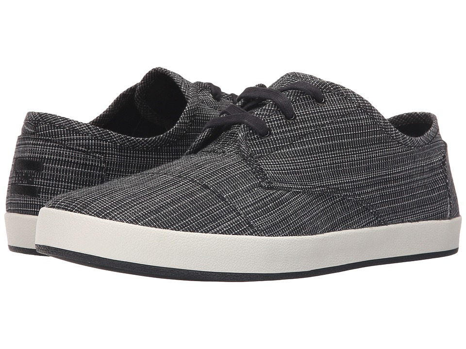 TOMS Paseo Black Distressed Textile Mens Lace up casual Shoes