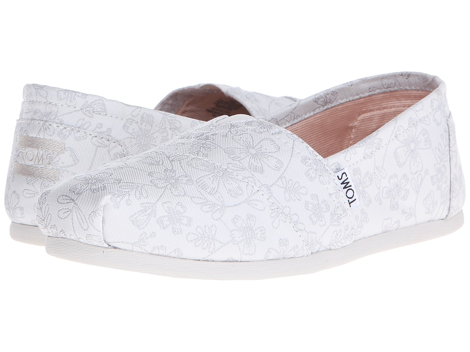 TOMS - Wedding Classic (Ivory Floral/Floral Jacquard) Women's Slip on Shoes